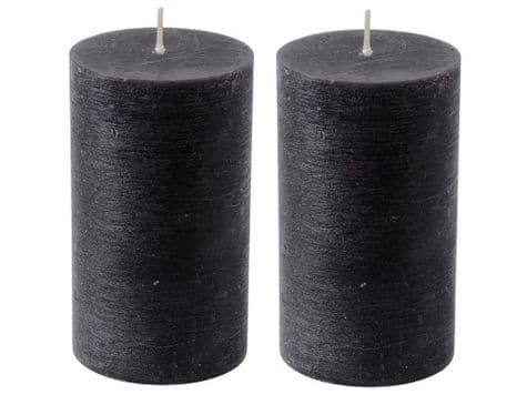 black pillar candles | coloured pillar candles | Libra Rustica candles